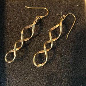"""Lia Sophia earrings """"Twizzler"""" In original box"""